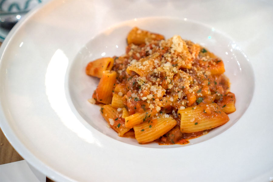 Rigatoni 'all'Amatriciana di Mare'