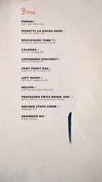 Cal Mare Birra List