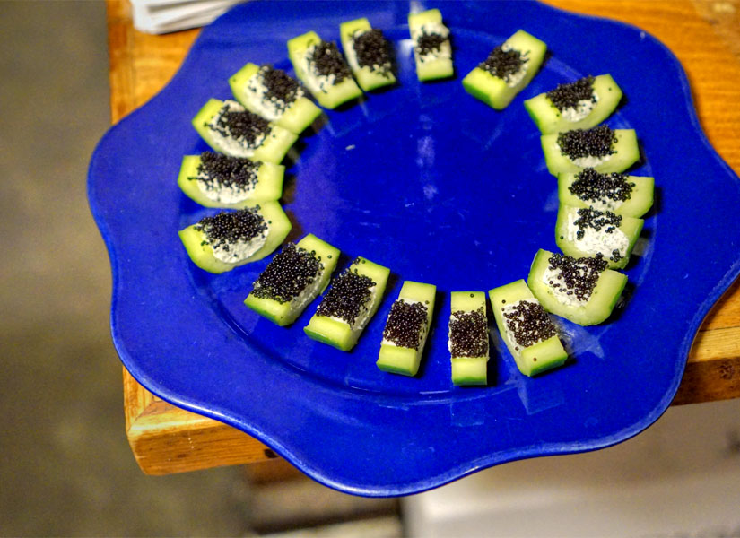 Cucumber with Caviar