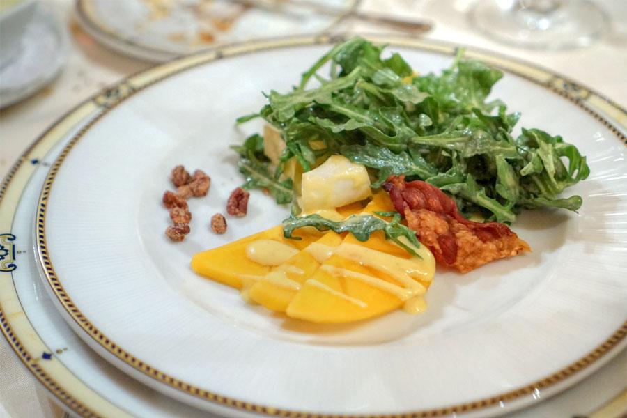 Arugula & Endive Salad, Fuyu Persimmons, Candied Pecans & Crispy Prosciutto