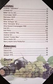 The Hobbit Cognac/Armagnac/Grappa/Calvados List