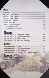 The Hobbit Port/Madeira/Sherry/Banyuls List