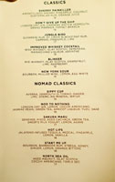 The NoMad Mezzanine Cocktail List: Classics, NoMad Classics