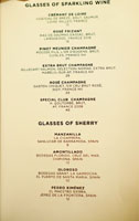 The NoMad Mezzanine Wines by the Glass List: Sparkling Wine, Sherry