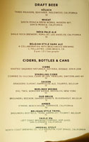 The NoMad Mezzanine Beer List