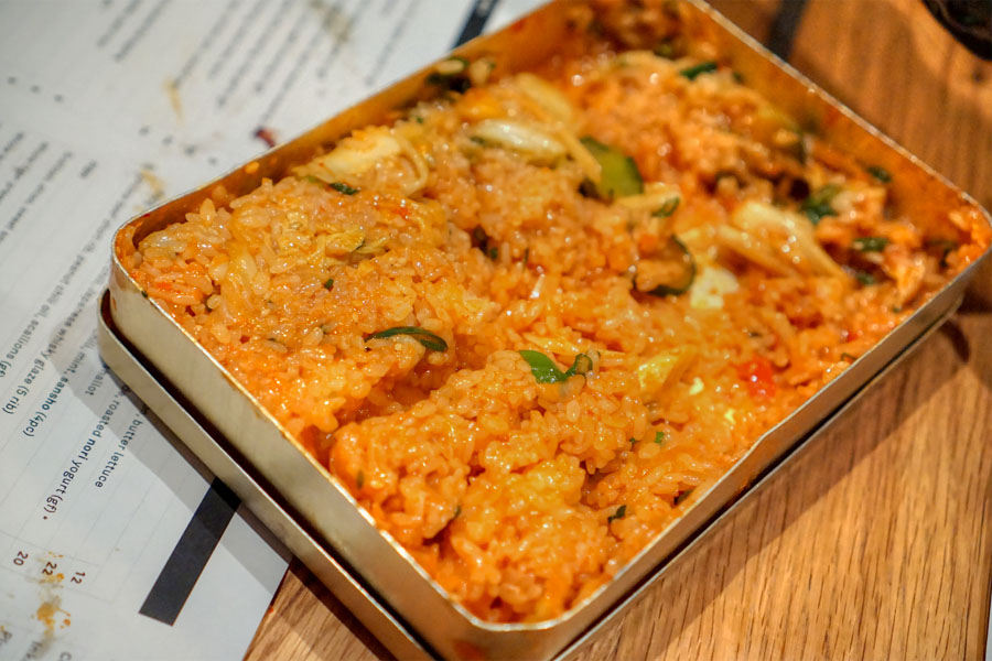 Kimchi rice (after shaking)