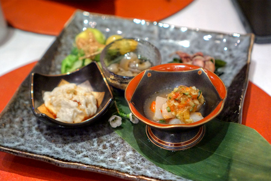 Kumiage Yuba / Hotate Ceviche