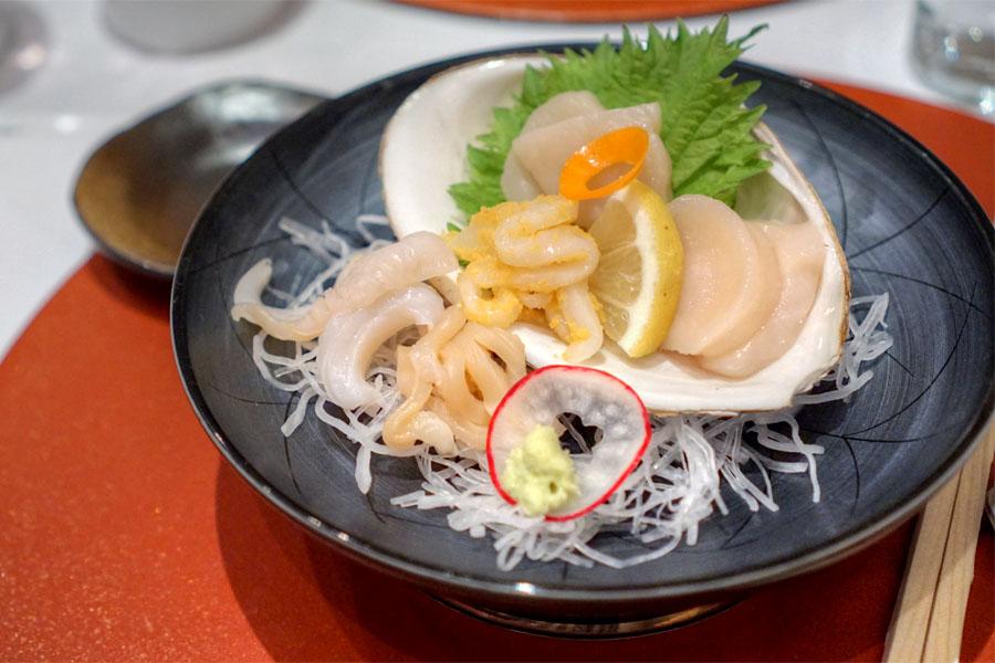 Mirugai, Aoyagi, Tairagai, Sumi Ika, Hotate