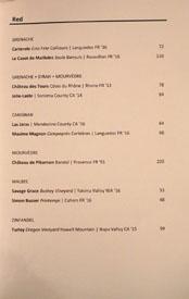 Majordomo Red Wines: Grenache, Grenache + Syrah + Mourvèdre, Carignan, Mourvèdre, Malbec, Zinfandel
