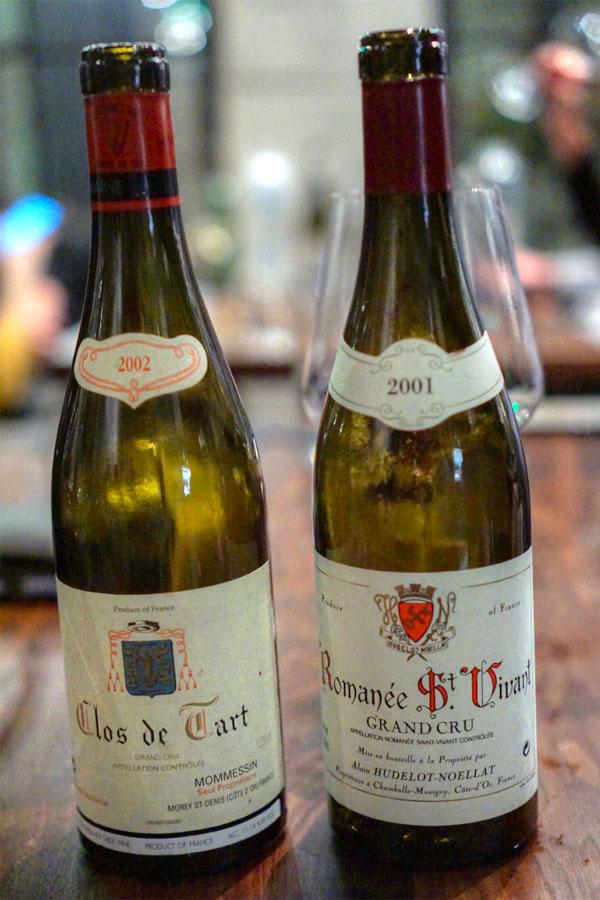 2002 Mommessin Clos de Tart & 2001 Alain Hudelot-Noellat Romanée St. Vivant
