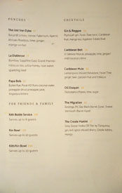 Kith and Kin Cocktail List: Punches, Cocktails