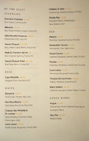 Kith and Kin Wines by the Glass List