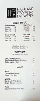 Highland Park Brewery - Chinatown Beers To Go & Wine List