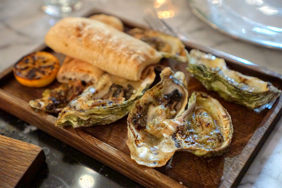 Grilled Oysters - Patriot Bay. Washington. Maitre'd Butter.