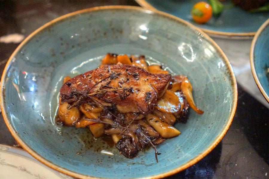 Roasted Mushrooms. Pedro Ximenez + Foie Gras