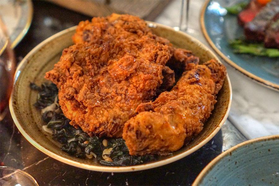 Fried Chicken. Catalan Greens.