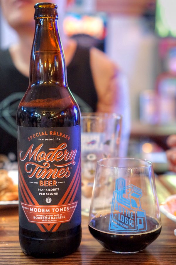 2018 Modern Times Modem Tones Aged in Bourbon Barrels with Vanilla