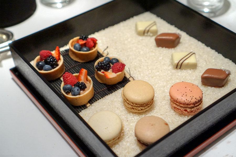 Macarons, Fruit Tarts, Bonbons