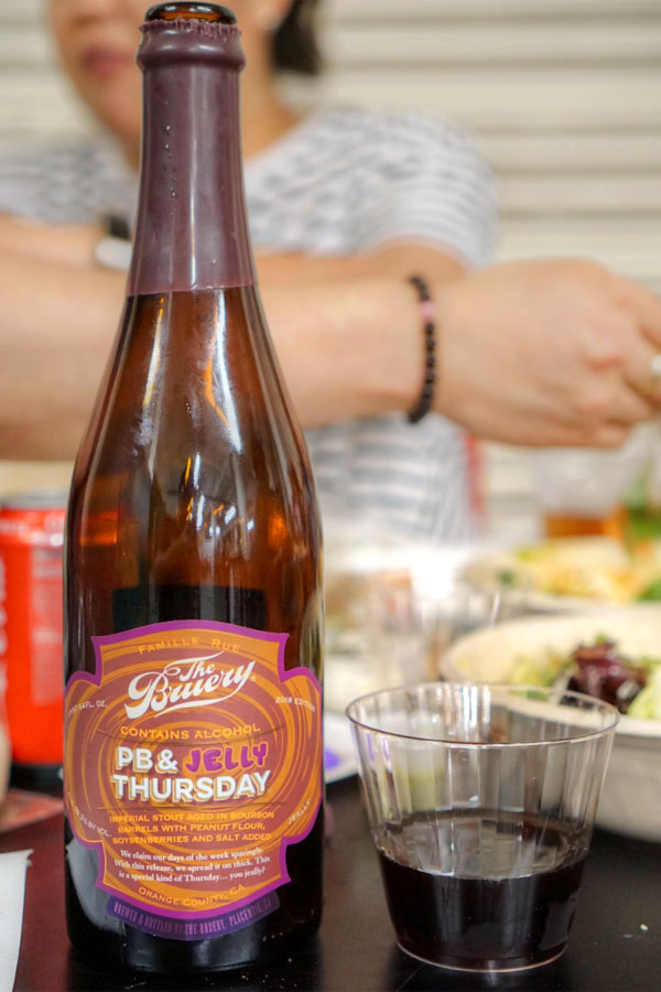 2018 The Bruery PB & Jelly Thursday