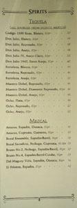 APL Restaurant Spirits List: Tequila, Mezcal