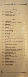 APL Restaurant Wine List: Rose, White