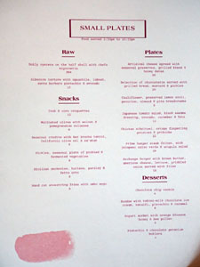 Rudolph's Bar & Tea Food Menu