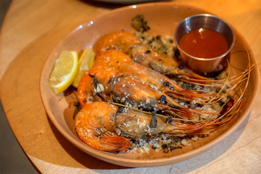 Salt Roasted Spot Prawns