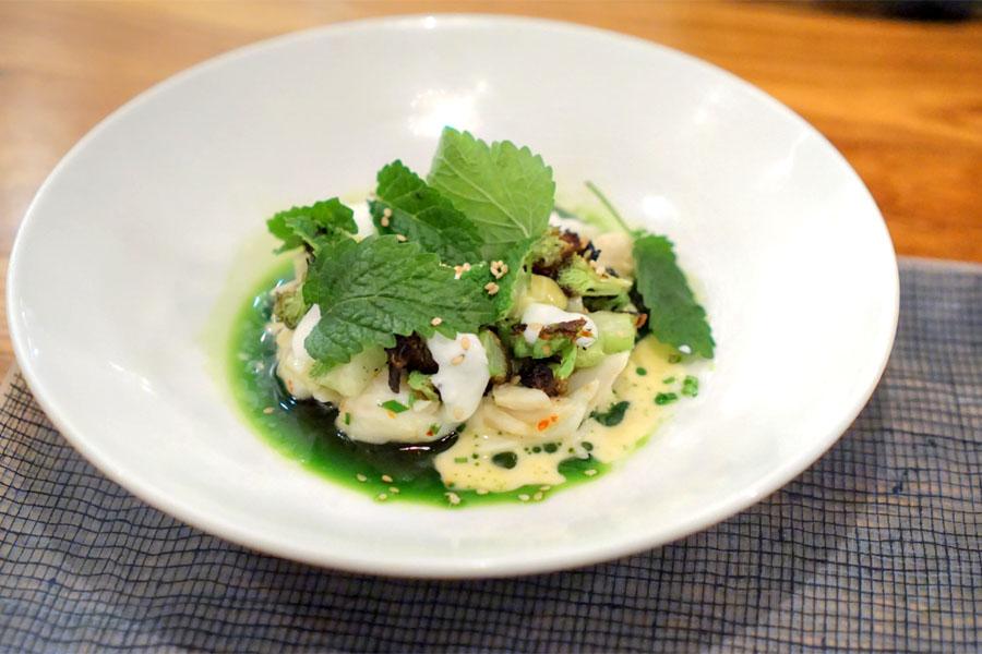 Charred Broccoli & Crab