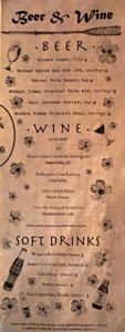 Lono Beer & Wine List
