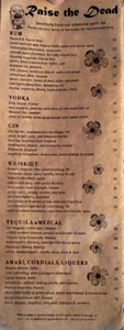 Lono Spirits List