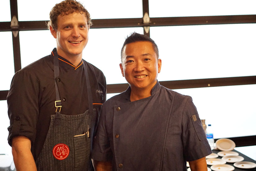 Jimmy Lee and Ms Chi Cafe Team