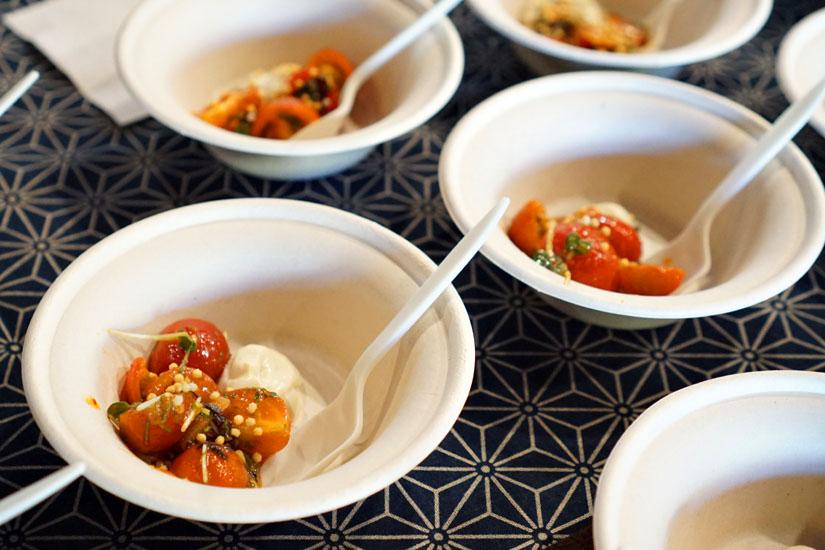 Fruit Tomato Kimchi, Saikyo Miso Tofu Cream