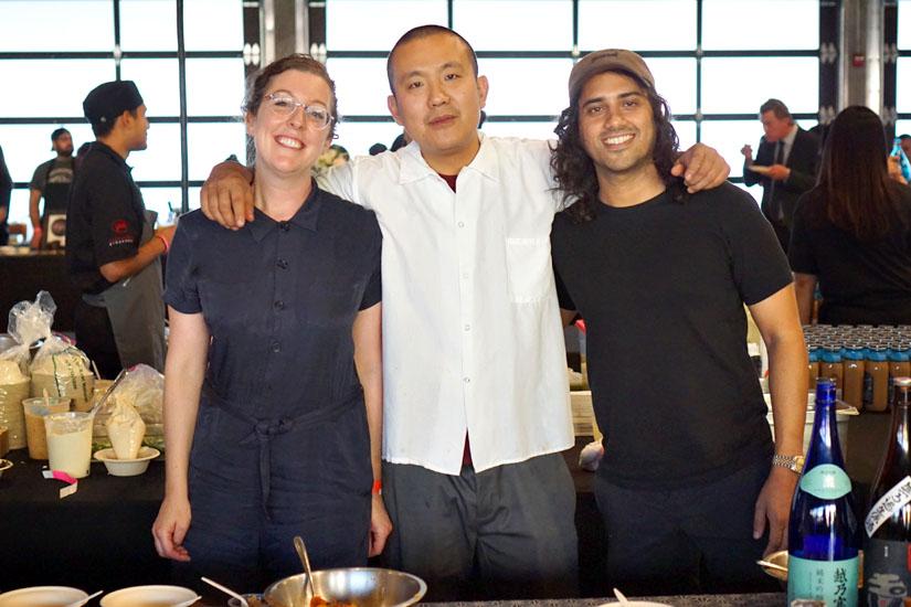Courtney Kaplan, Charles Namba and Tsubaki Team