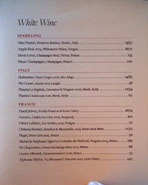 Chateau Hanare White Wine List: Sparkling, Italy, France
