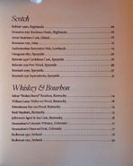 Chateau Hanare Scotch, Whiskey & Bourbon List