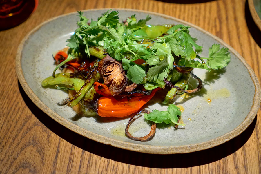 Mixed Peppers with Charred Onion + Cilantro