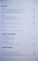 Simone Wine List: Riesling, Grüner Veltliner, Chenin Blanc