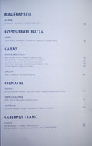 Simone Wine List: Blaufrankish, Hondurrabi Beltza, Gamay, Grenache, Cabernet Franc