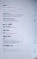 Simone Wine List: Syrah, Mourvedre, Barbera, Nebbiolo, Tempranillo
