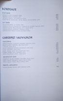 Simone Wine List: Bordeaux, Cabernet Sauvignon