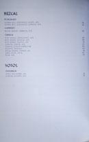 Simone Spirits List: Mezcal, Sotol