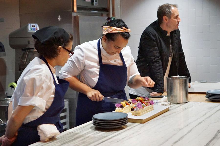Nina Subhas Cutting Cake