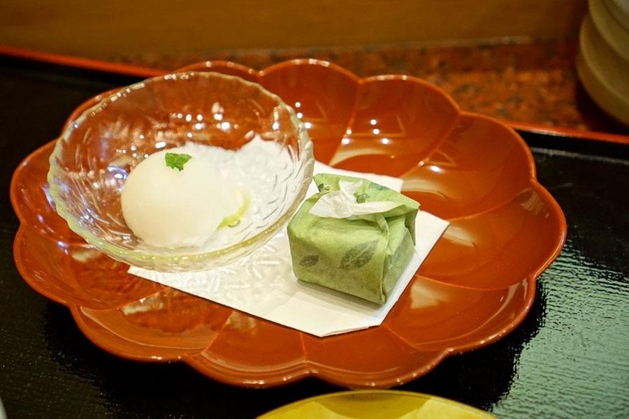 Yuzu Sherbet & Green Tea Mochi