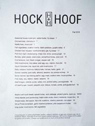 Hock + Hoof Menu