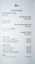 Hock + Hoof Beer List