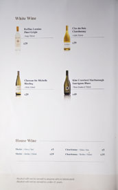 KyungBokKung Wine List: White
