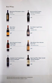 KyungBokKung Wine List: Red