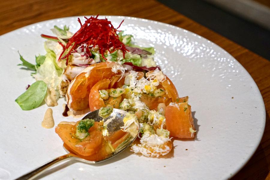 Tomato Seafood Salad / Tongtomato Haemul Saelleodeu
