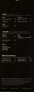 HATCH Yakitori + Bar Wine & Liquor List