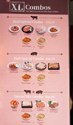 Saemaeul Menu: XL Combos